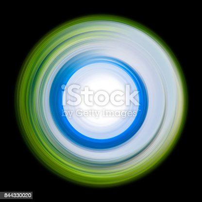 844330076istockphoto ring of light. rotation and circulation. colorful abstract background. 844330020