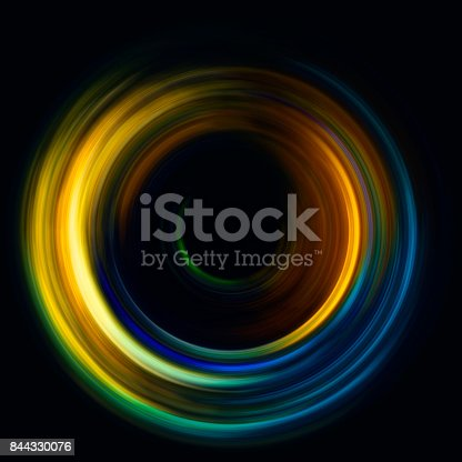 istock ring of light. rotation and circulation. colorful abstract background. 844330076