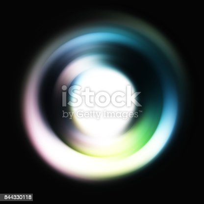 844330076istockphoto ring of light. rotation and circulation. colorful abstract background. 844330118