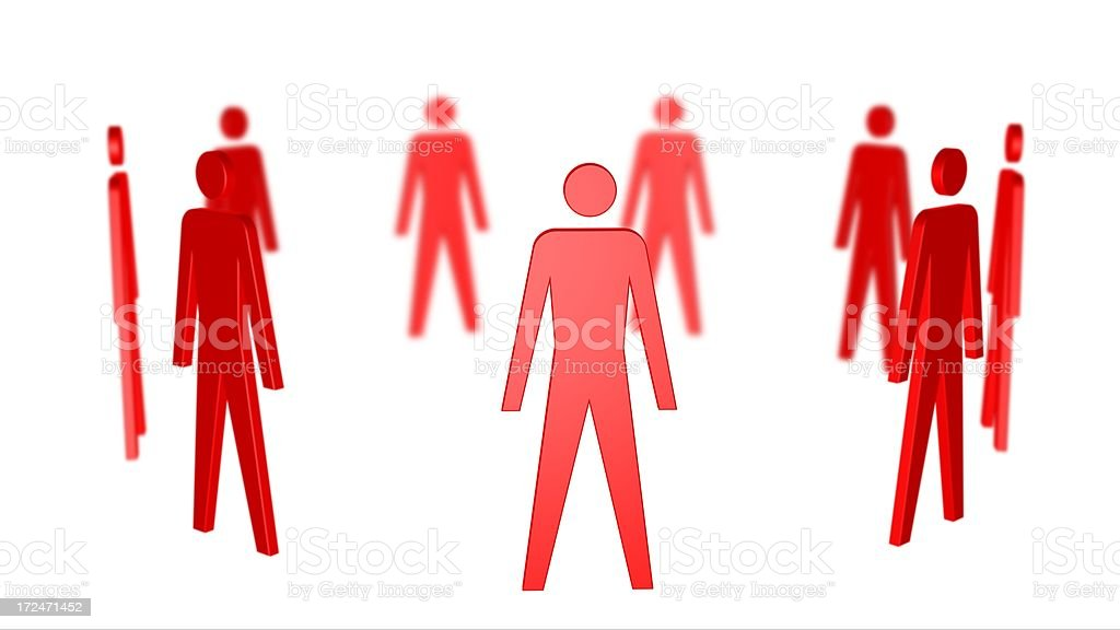 Ring of People royalty-free stock photo
