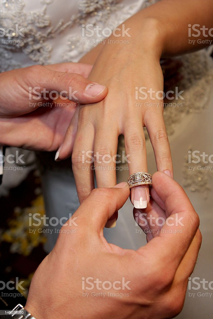 Ring On stock photo