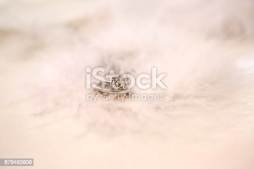 Ring On White Cloth Background Stock Photo Istock