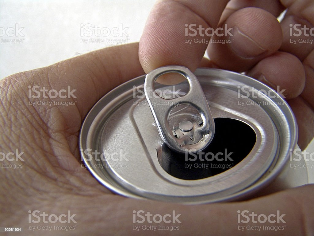 Ring Pull Can Top stock photo