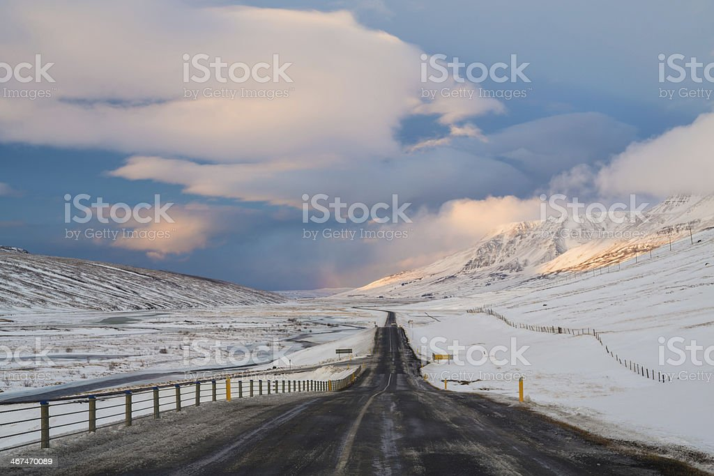 Ring Road in Iceland stock photo