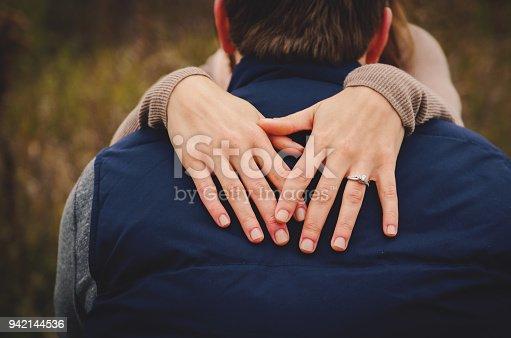 Detail shot taken at an engagement session.
