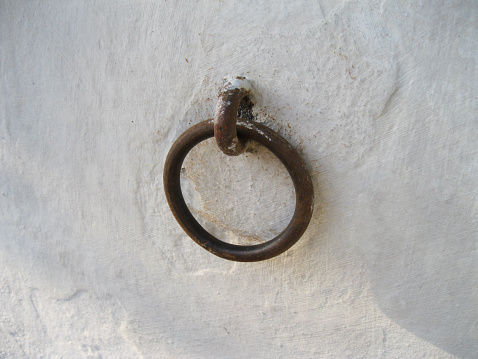 Ring to hold horses in wall colonial house