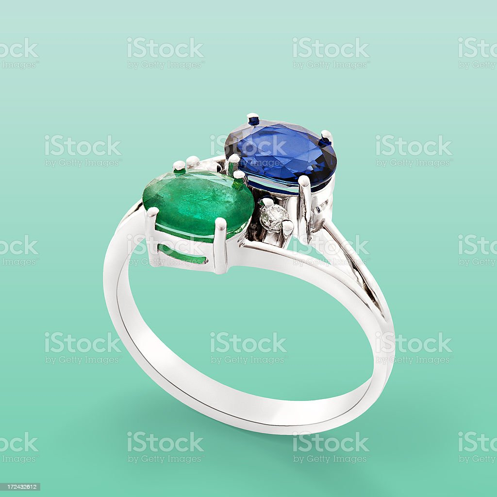 ring with gemstones royalty-free stock photo