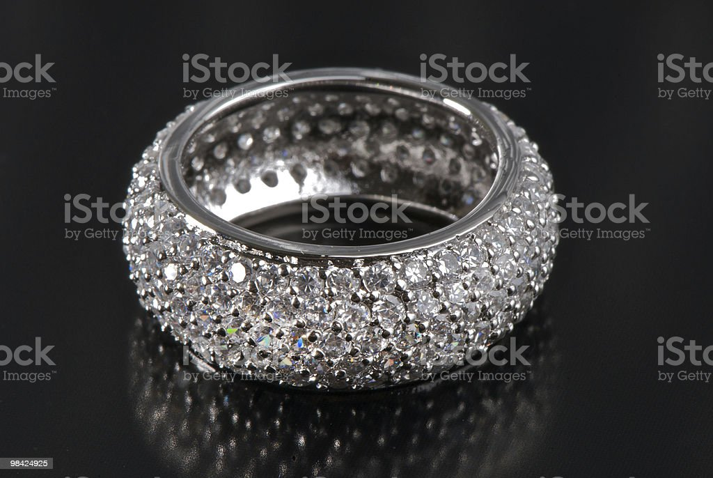 ring with precious stones royalty-free stock photo