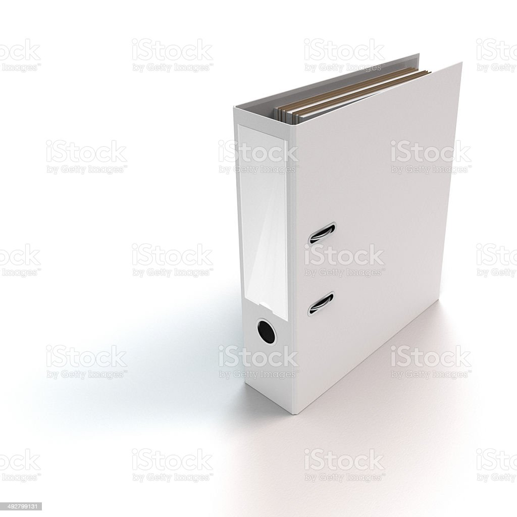 ringbinder standing on white stock photo