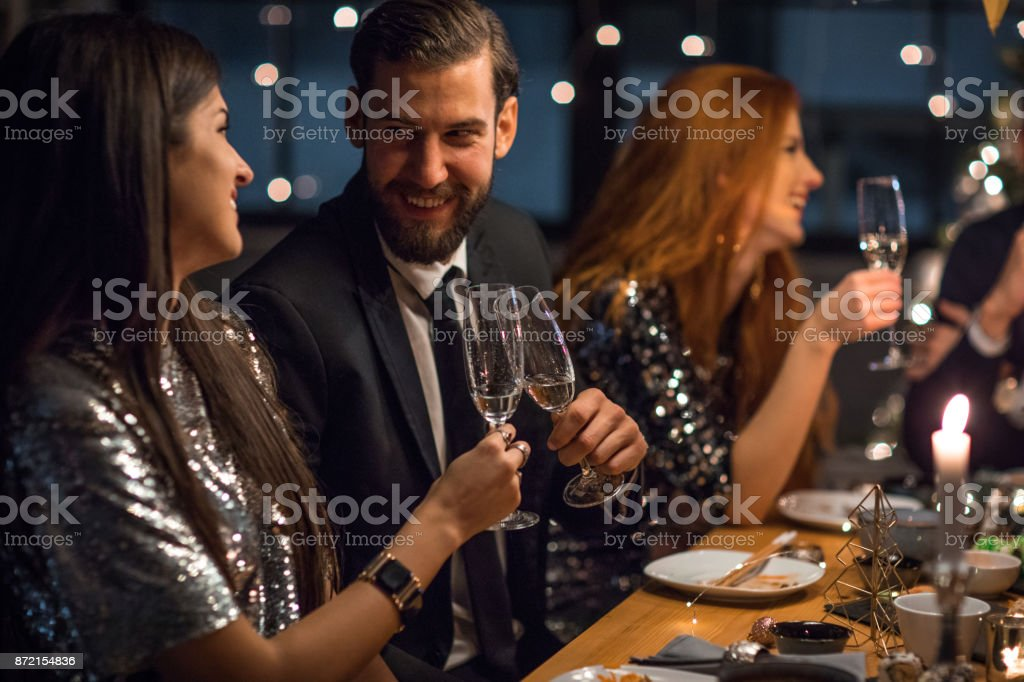 Ringing in a new year stock photo