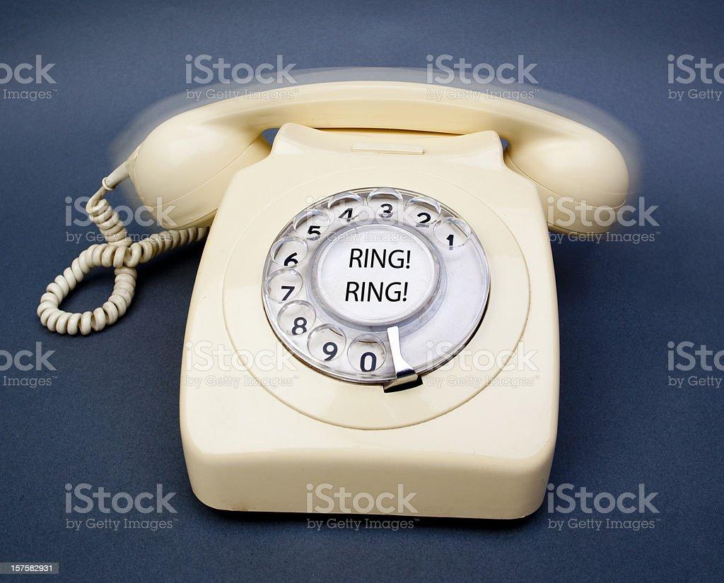 Ringing telephone royalty-free stock photo