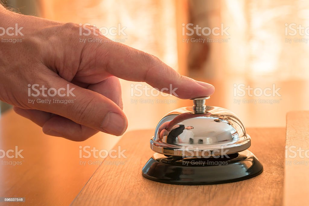 Ringing the Service Bell royalty-free stock photo