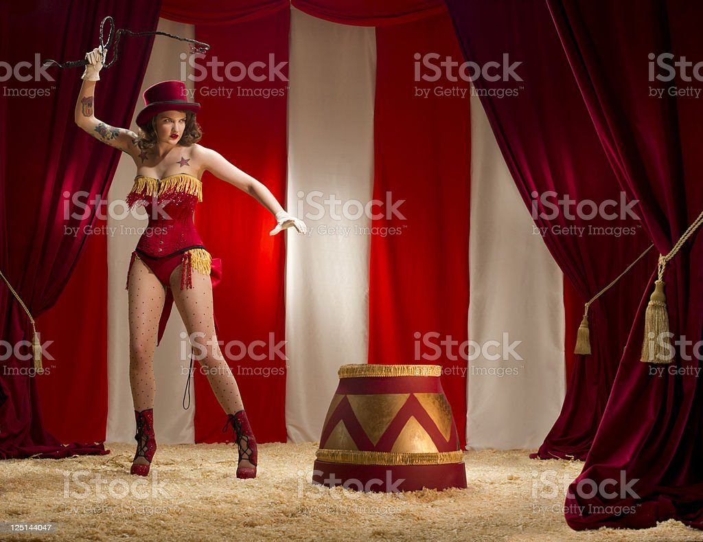 ringmaster burlesque stock photo
