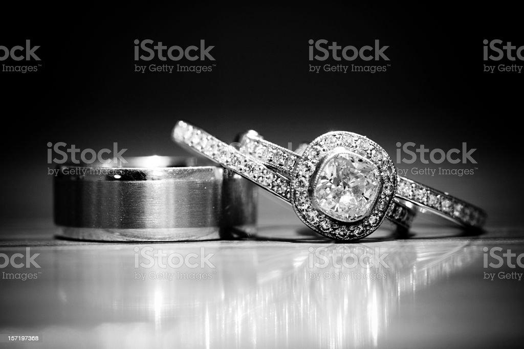 B&W Rings stock photo