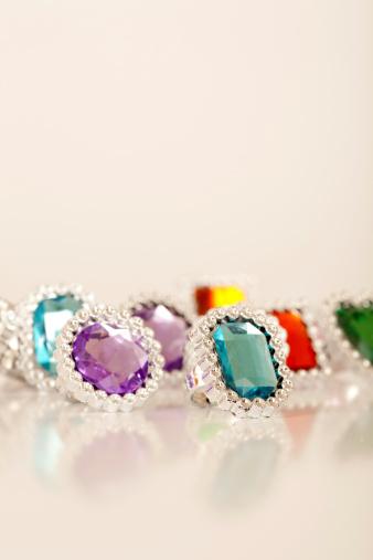 little rings on white