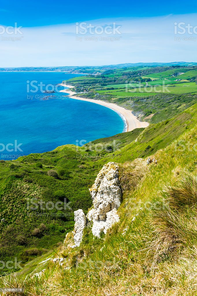 Ringstead Bay Coastline stock photo