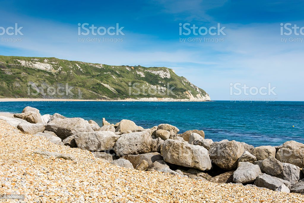 Ringstead Bay  White Nothe Headland stock photo