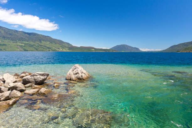 Rinihue lake, Valdivia province, Chile stock photo