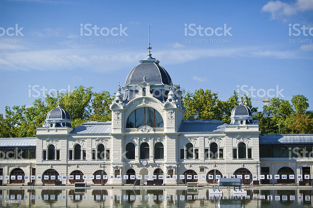 Rink in Budapest stock photo