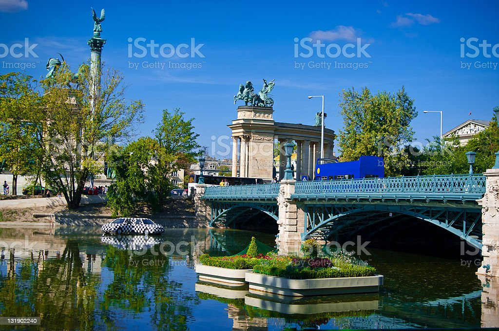 Rink in Budapest. summer stock photo