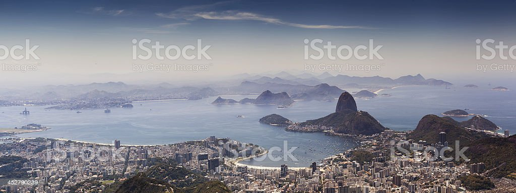 Rio as it seen from peak of Corcovado mountain. royalty-free stock photo
