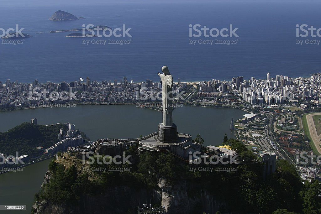 Rio by helicopter II - Royalty-free Aerial View Stock Photo