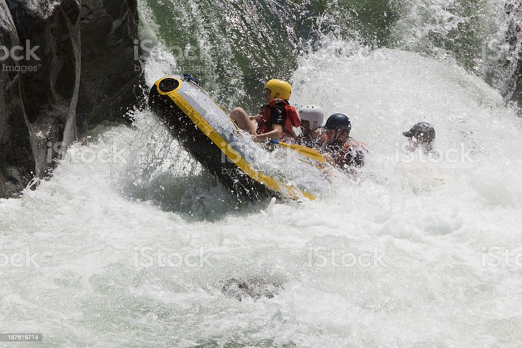 Rio Cangrejal Whitewater Rafting adventure royalty-free stock photo