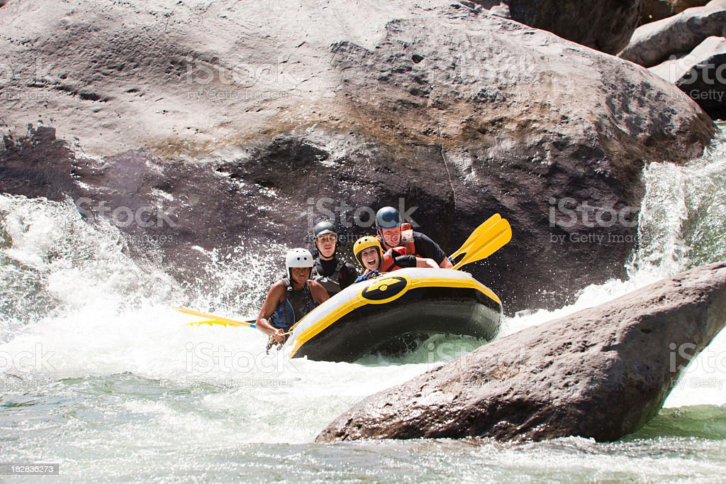 Rio Cangrejal Whitewater Rafting royalty-free stock photo