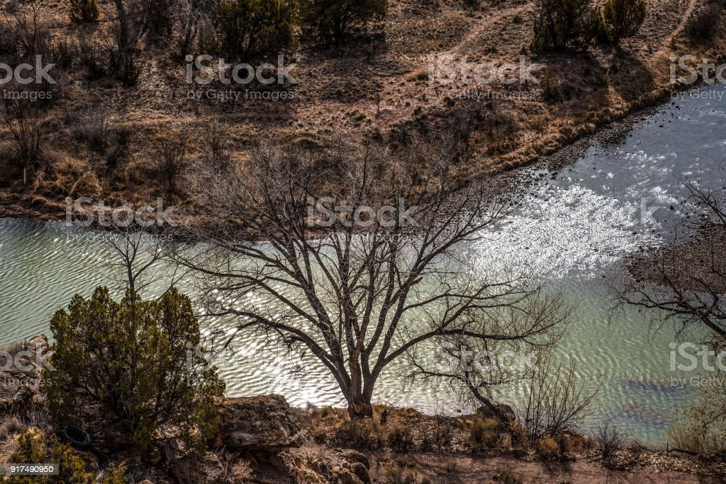 Rio Chama close up stock photo