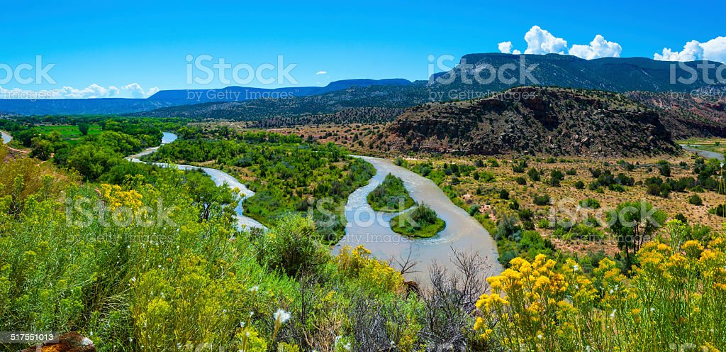 Rio Chama near Abiquiu stock photo