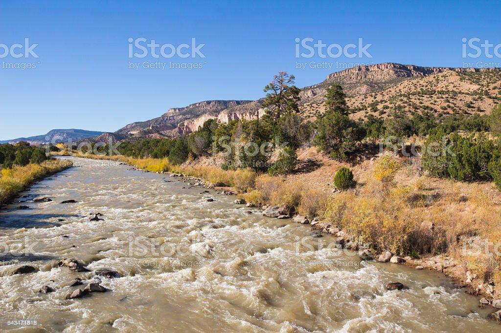 Rio Chama River at Continental Divide stock photo