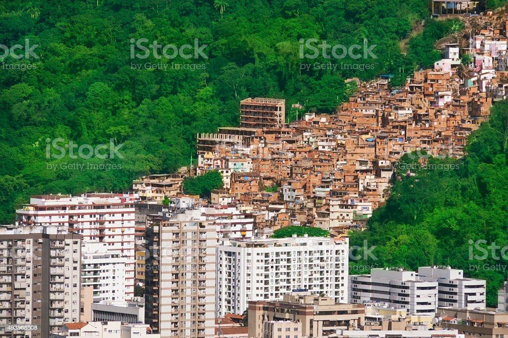 Rio de Janeiro, einem kontrastierenden city – Foto