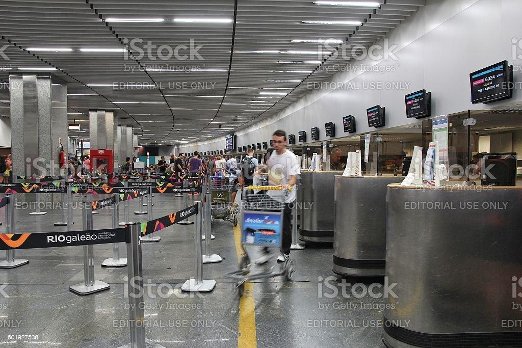 Rio de Janeiro airport stock photo