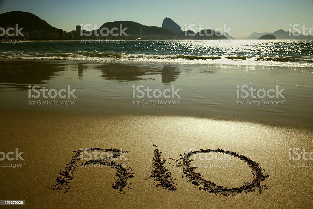 Rio de Janeiro and Copacabana beach royalty-free stock photo