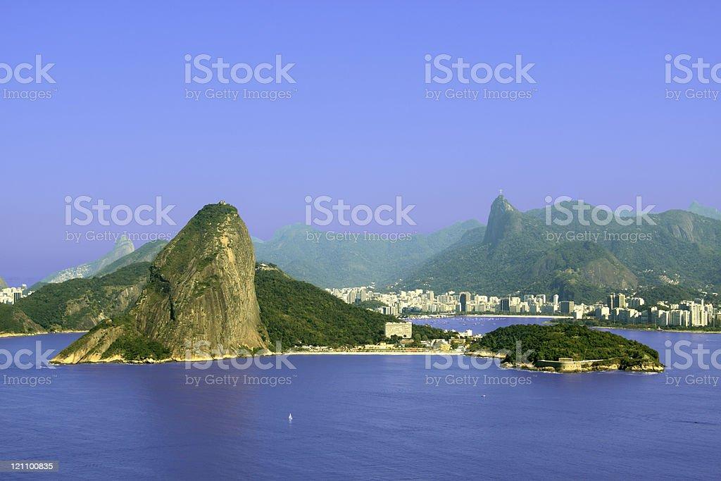 Rio de Janeiro and its famous mountains royalty-free stock photo