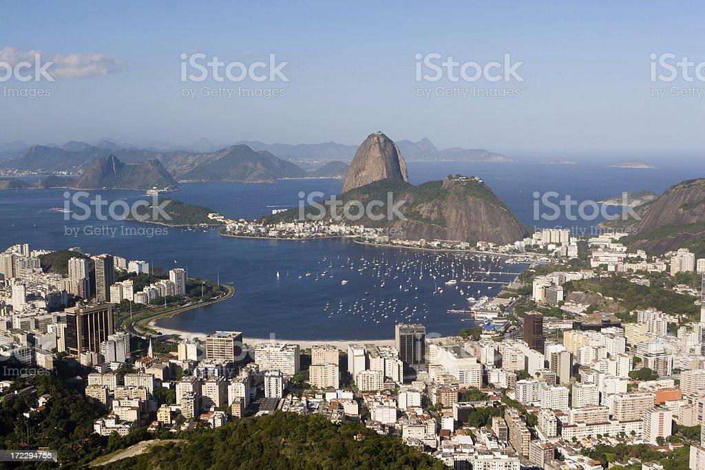 Rio de Janeiro and Sugar Loaf Mountain. royalty-free stock photo