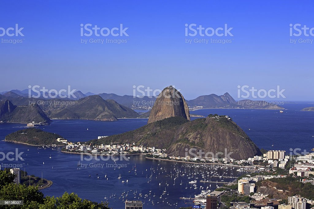 rio de janeiro and the sugarloaf brasil royalty-free stock photo