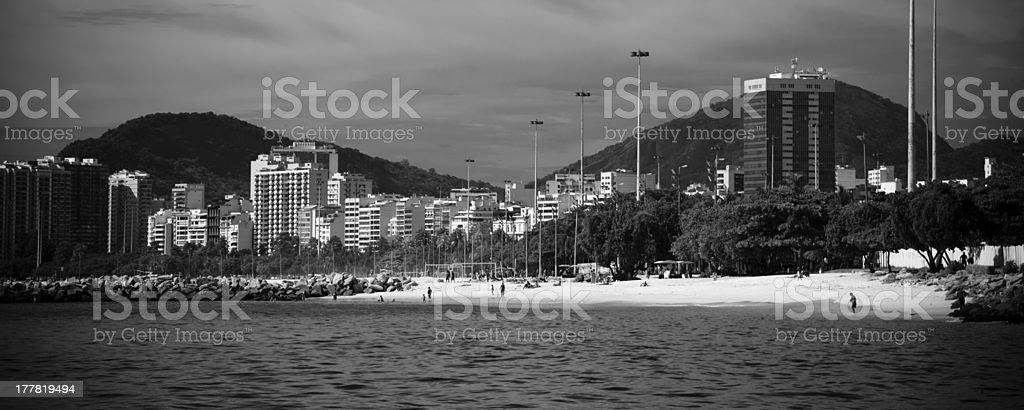 Rio de Janeiro as seen from a boat royalty-free stock photo