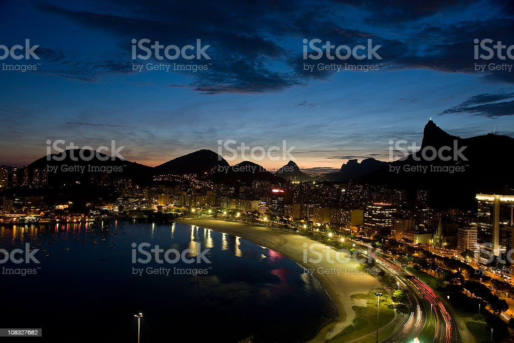 Rio de Janeiro at Dusk royalty-free stock photo