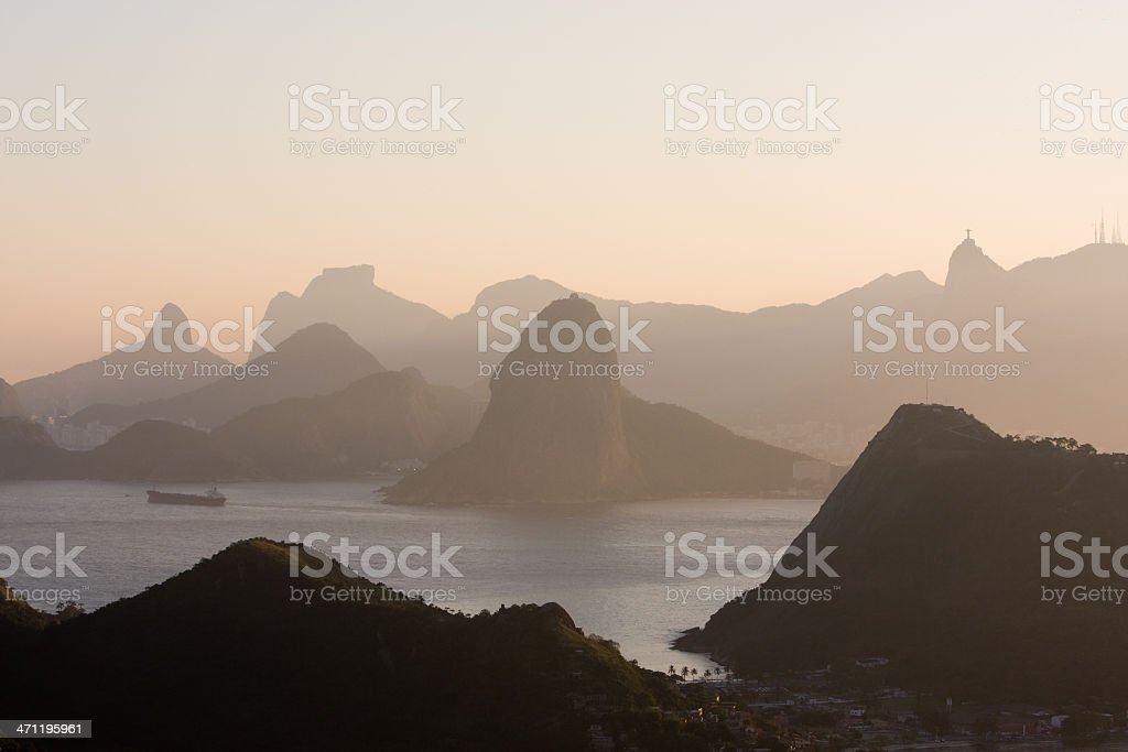 Rio de Janeiro at Sunset royalty-free stock photo
