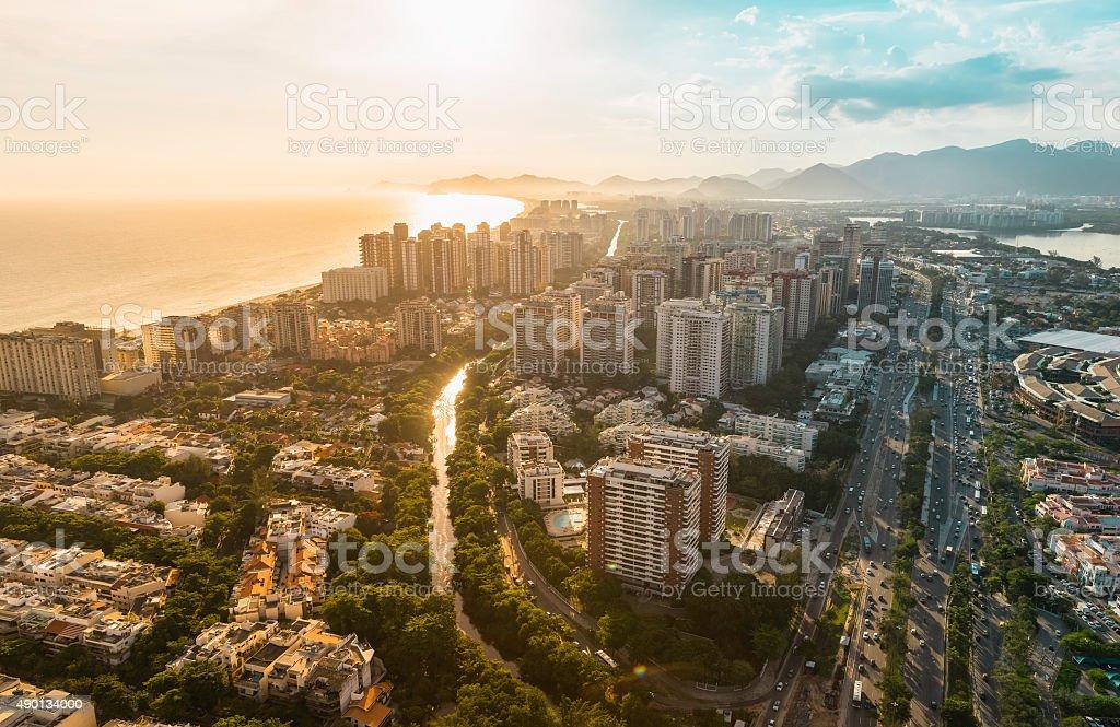 Rio de Janeiro, Barra da Tijuca vista aérea - foto de acervo