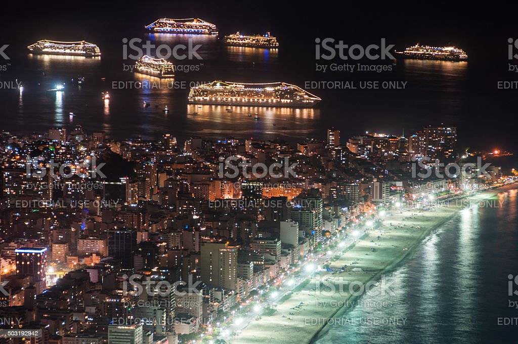 Rio de Janeiro before New Year stock photo