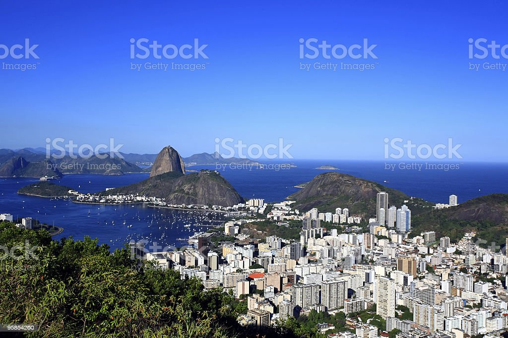 rio de janeiro botagog and the sugarloaf brasil royalty-free stock photo