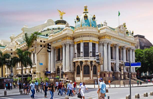 Rio de Janeiro, Brasilien, Stadttheater. – Foto