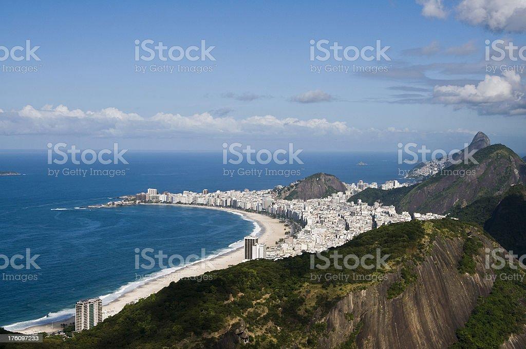 Rio de Janeiro, Copacabana Beach royalty-free stock photo