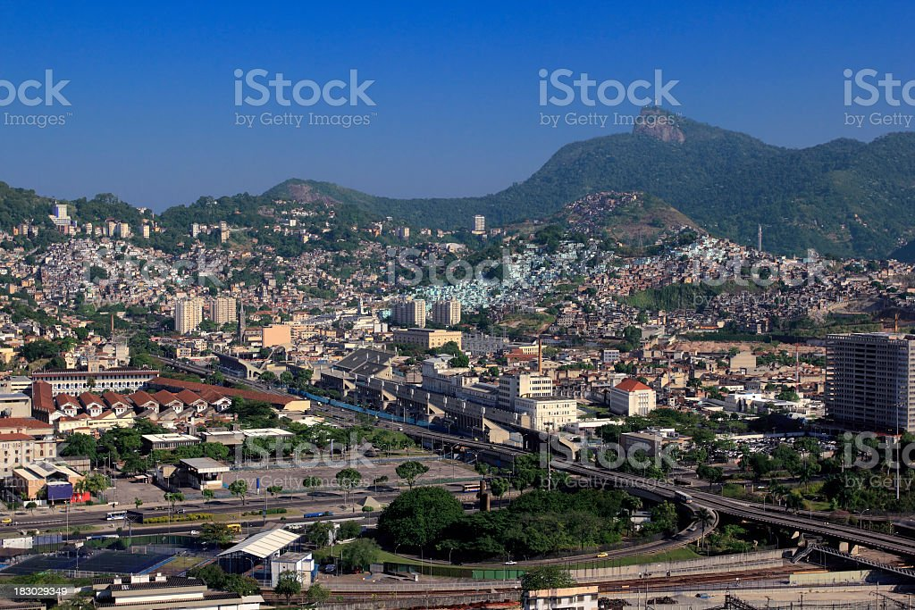 Rio de Janeiro downtown and Estacio district stock photo