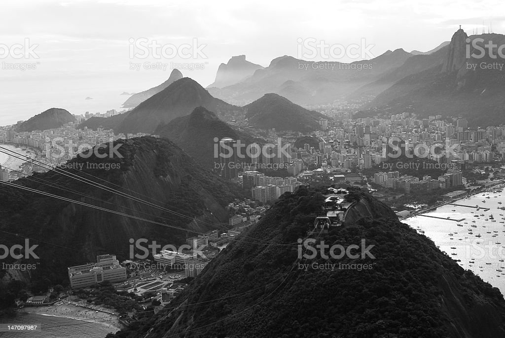 Rio de Janeiro from Sugarloaf Mountain royalty-free stock photo