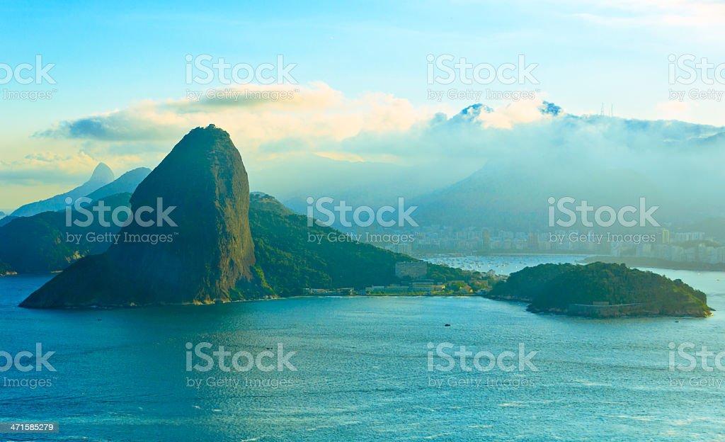 Rio de Janeiro in Blue royalty-free stock photo