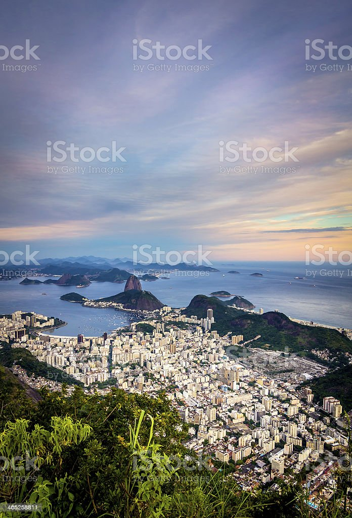 Rio de Janeiro in late afternoon royalty-free stock photo