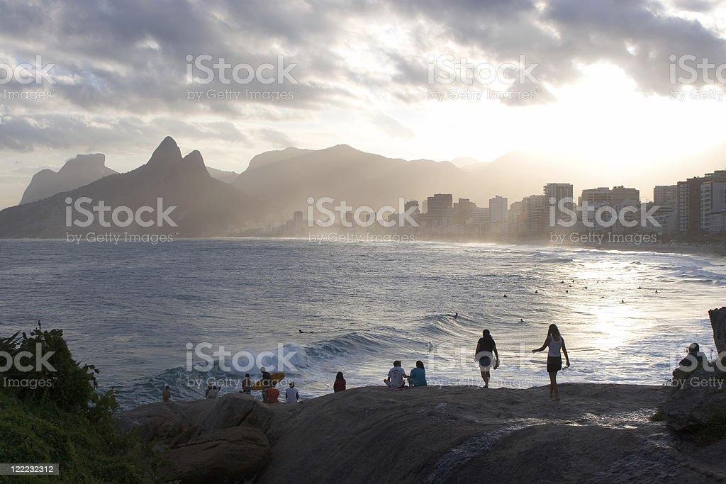 Rio de Janeiro, Ipanema Beach stock photo